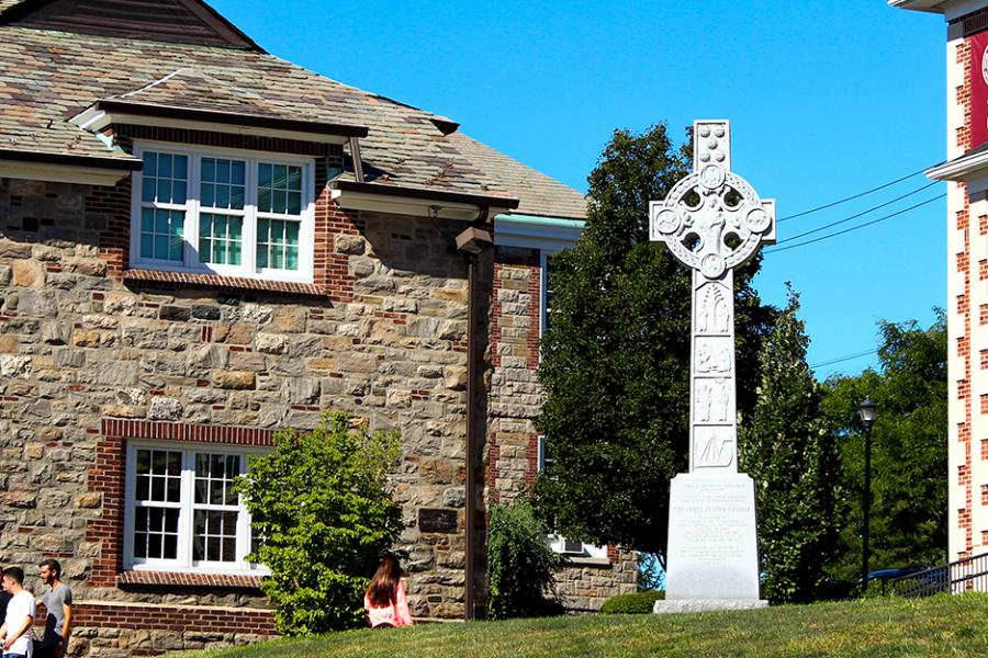 The Celtic Cross stands on East Hill.