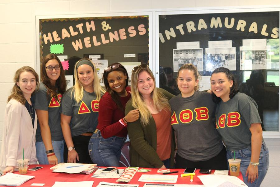 Delta Theta Beta recruit new members at the LaPenta Student Union.