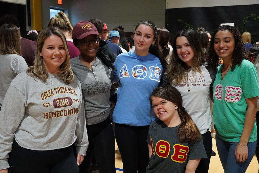 Members of Delta Theta Beta at the involvement fair.