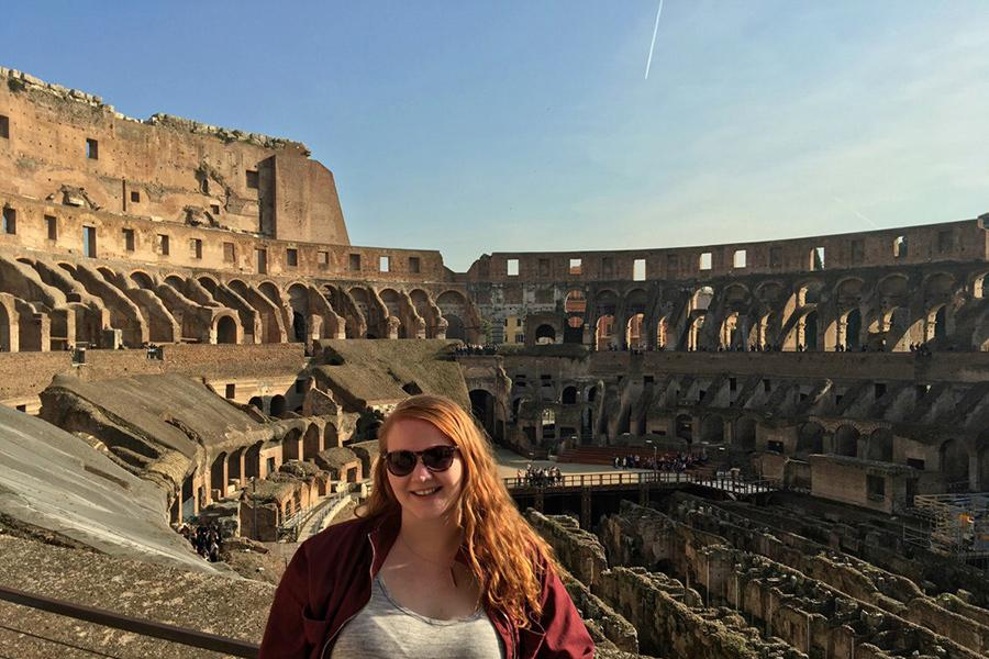 An Iona study at the Colosseum in Rome, Italy.