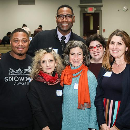 Henry LaBeuf, Sr., Victoria Mills, Kimara S. Dawson, Kathy Leichter, Dr. Cathryn Lavery and Dr. Kimbery Spanjol at the Youth Incarceration film screening.