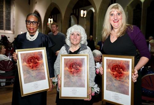 Three Iona Alumnae, Colette Phipps, Frances Gray and Gina Parziale, receive awards for service to their communities.