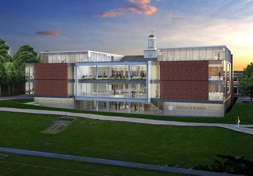 An artist's rendering of the LaPenta School of Business.