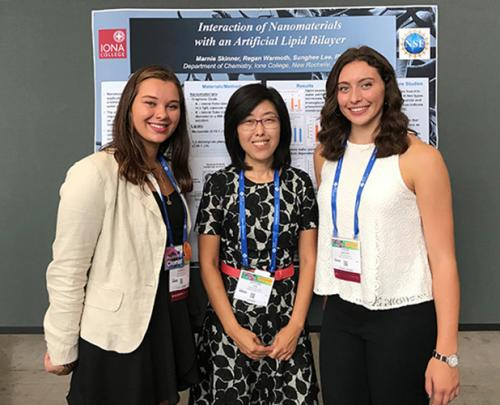 Regan Warmoth, Sunghee Lee and Marnie Skinner with their research at international collaboration.