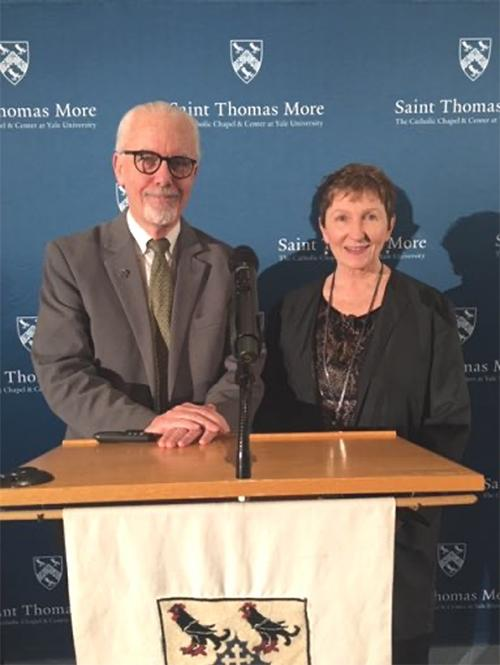 Br. Kevin Cawley and Sr. Kathleen Deignan present at Yale University.