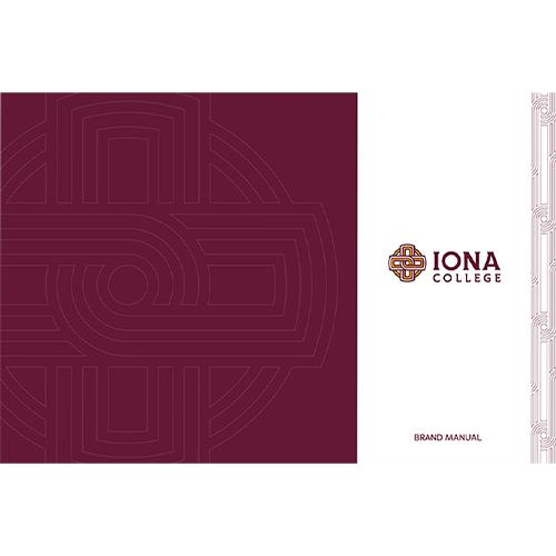 Iona College Brand Manual cover.