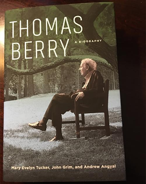 The cover of Thomas Berry's biography.