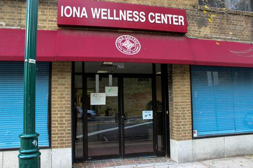 The front of the Iona Wellness Center on North Avenue.